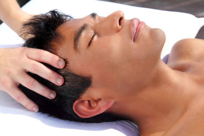 CranioSacral Therapy on Male Client